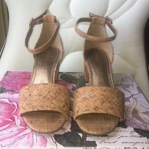 Anne Klein cork block-heel sandal